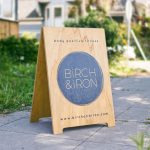 Birch & Iron Wood A-Frame Sign