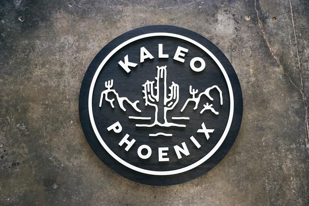Kaleo Phoenix black and white raised sign