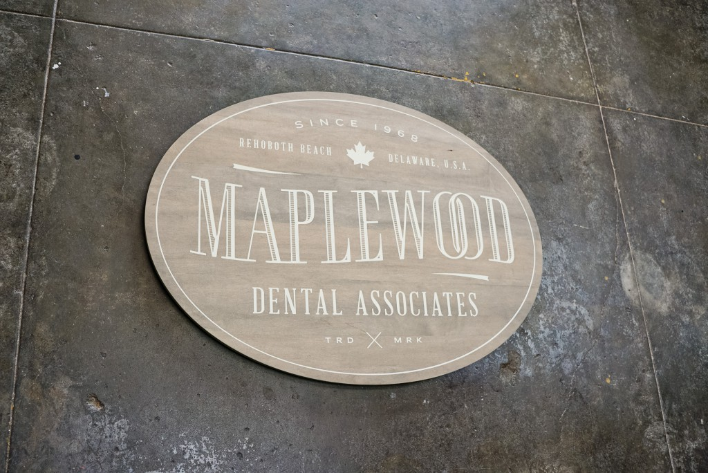 Maplewood whitewashed sign