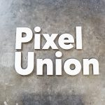 Pixel Union White Sign