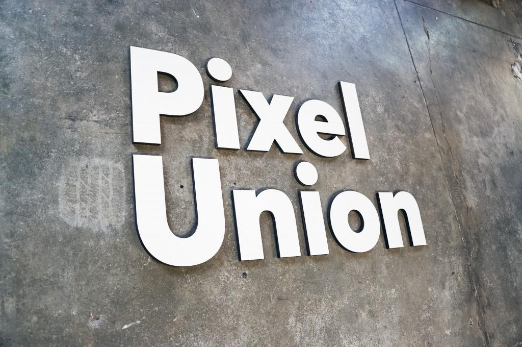 Pixel Union White Sign