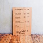 Mayorga Organics Etched Wood Menu