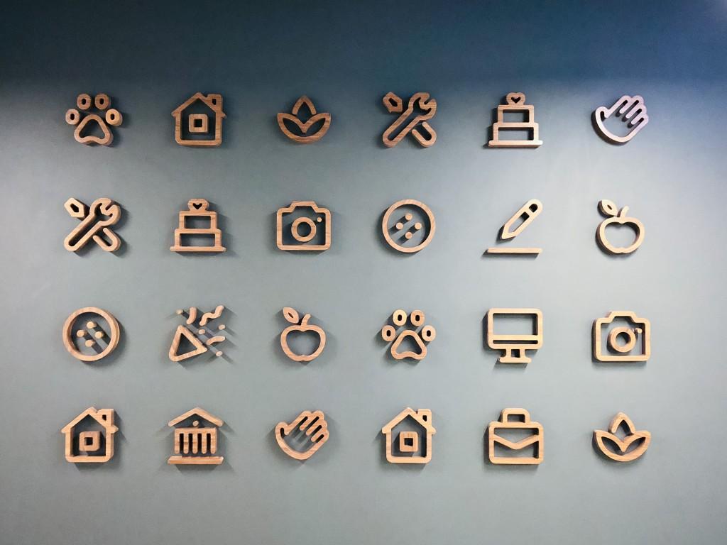 thumbtack walnut icons