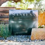 Manresa restaurant modern simple illuminated monument sign