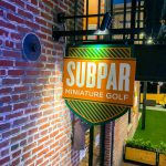 Subpar Mini Golf Blade Colorful Painted Sign