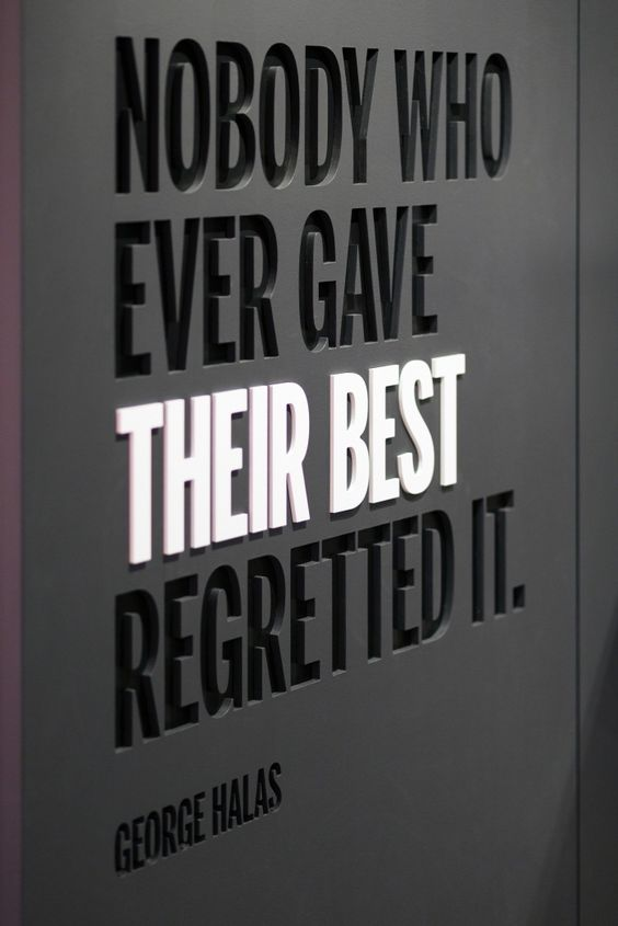 """Nobody who ever gave their best regretted it."" quote at Wilson office, designed by Gensler."