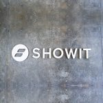 White floating wall sign for Showit, a company that creates a website builder for photographers.