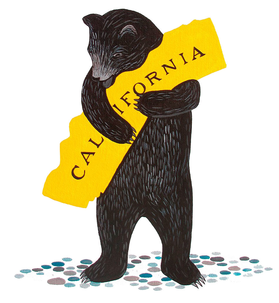 bear hugging state of california