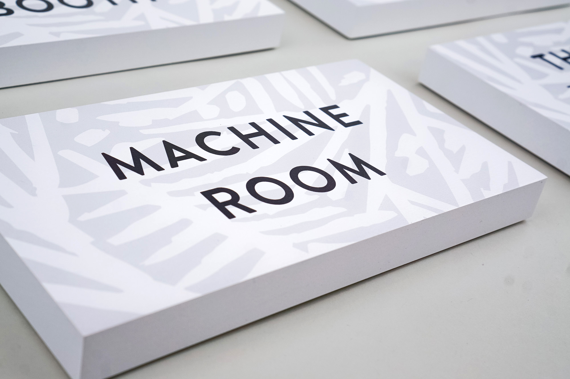 Room signs for Fotokem's Margarita Mix®, a Los Angeles facility that provides audio services for commercial advertising, television, video games and DVD.