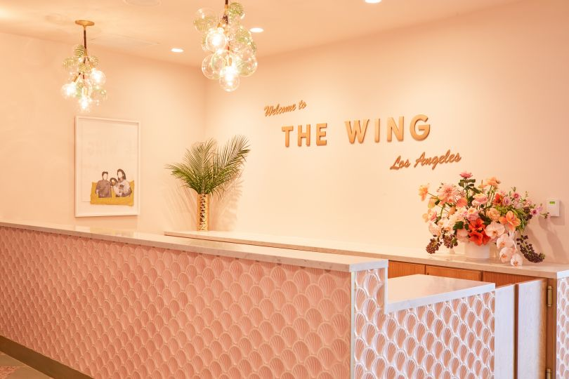The Wing Los Angeles Reception Area