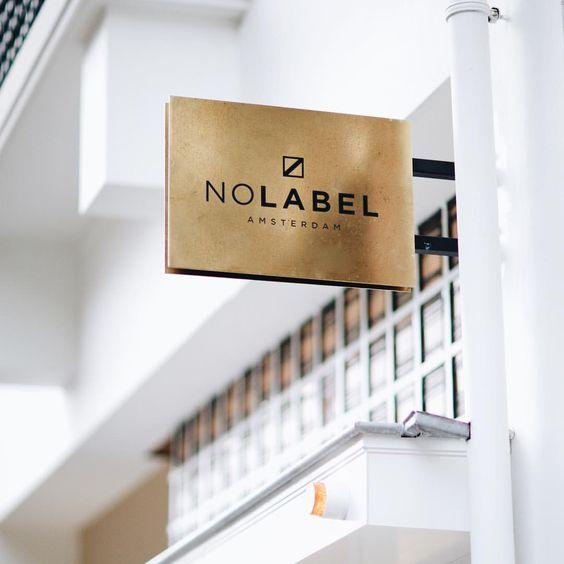 no label brass blade sign