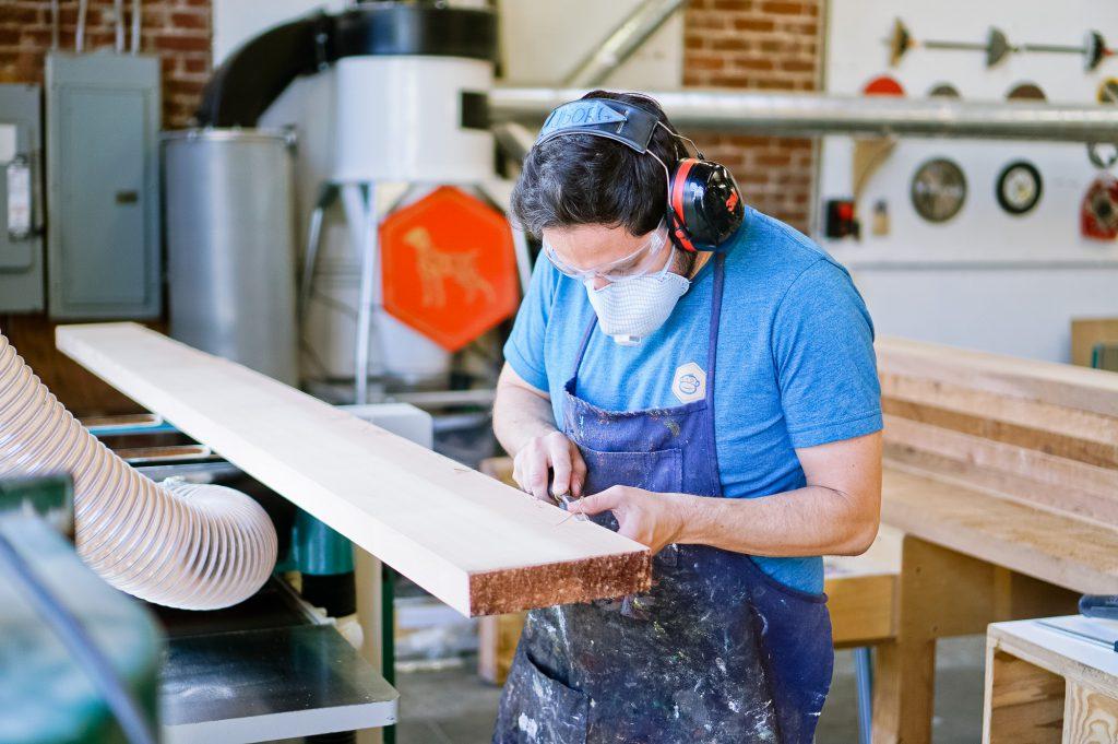 Slack lobby sign - milling up wood