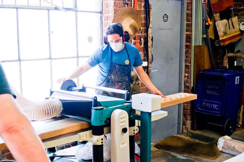 Slack sign - milling up wood