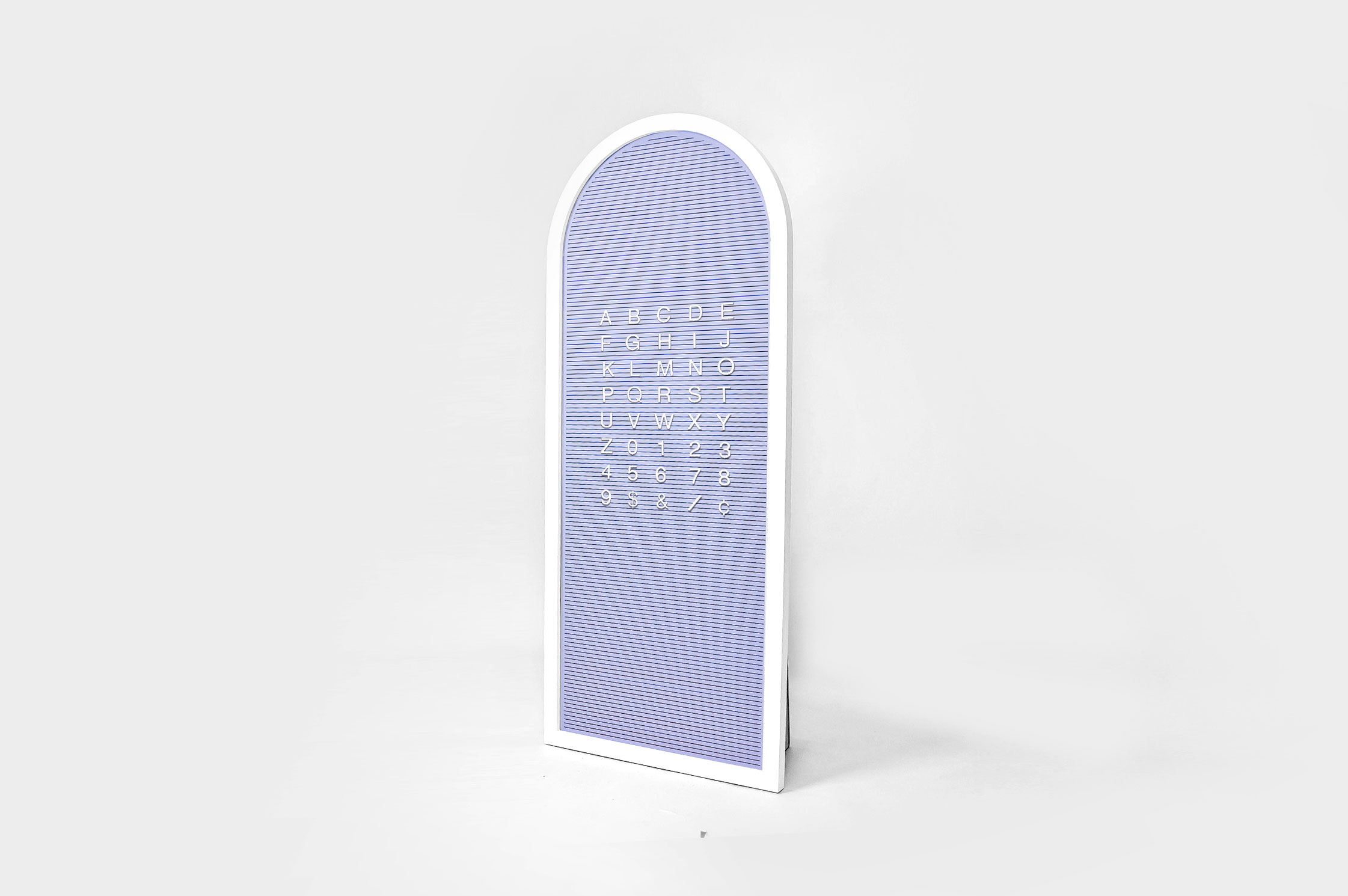 Custom purple changeable letterboard sign for Re:Store, a retail store and community space on Maiden Lane in San Francisco, CA.