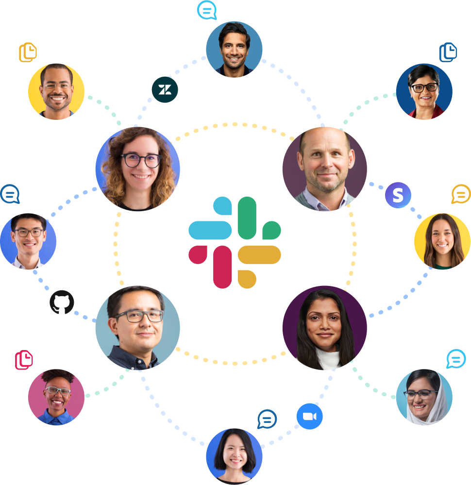 Slack collaboration graphic
