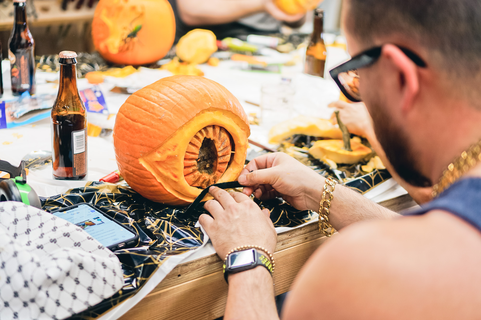 Tinkering Monkey pumpkin carving contest 2019