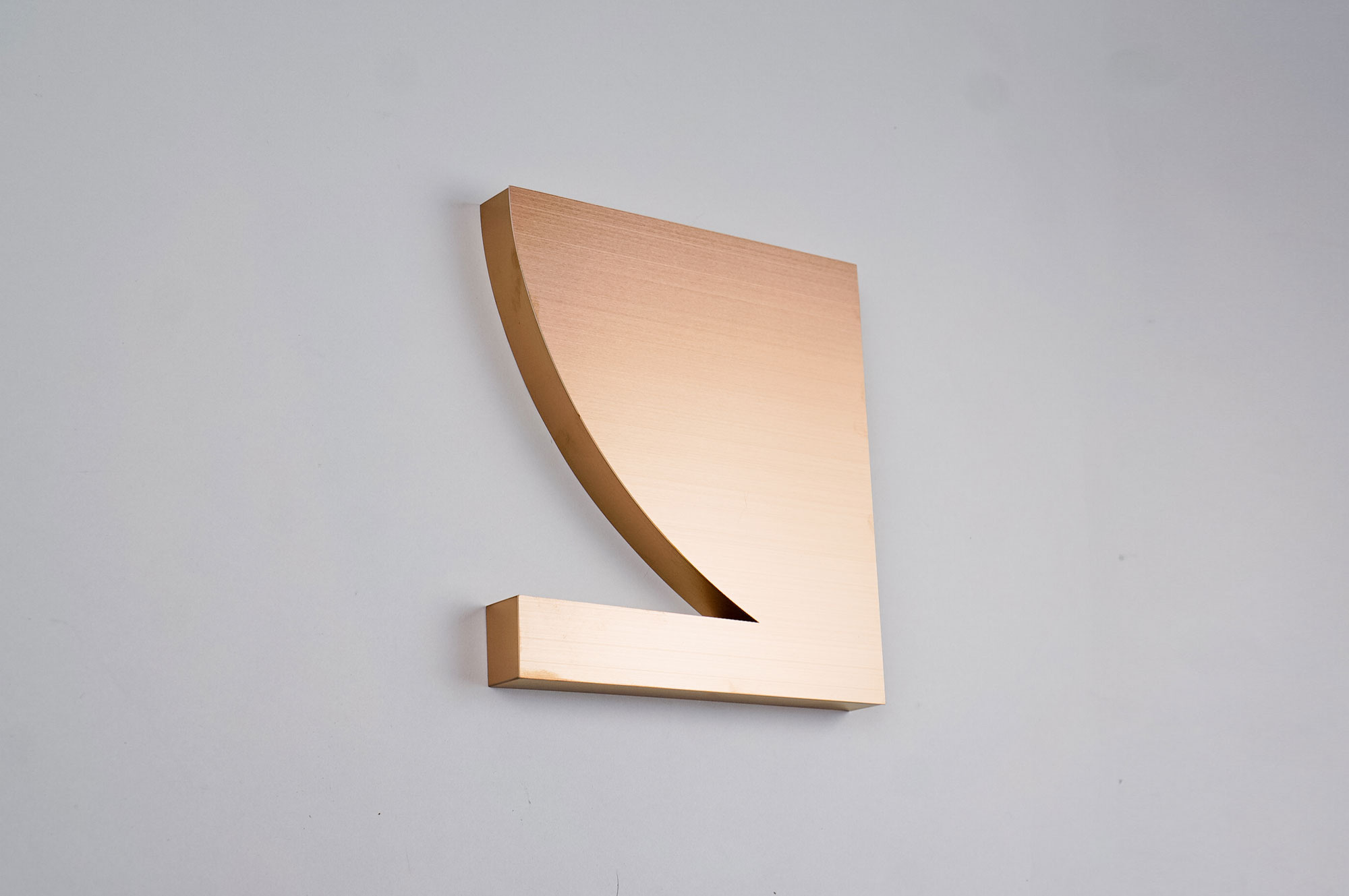 Brushed copper style cutout logo for Bzippy & Co, a design line by LA-based artist Bari Ziperstein.