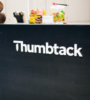Thumbtack Front Desk Sign