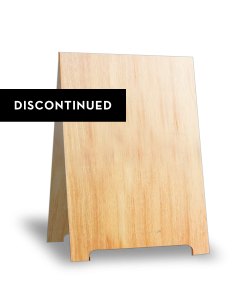 A-frame Sign in Medium Brown [DISCONTINUED]