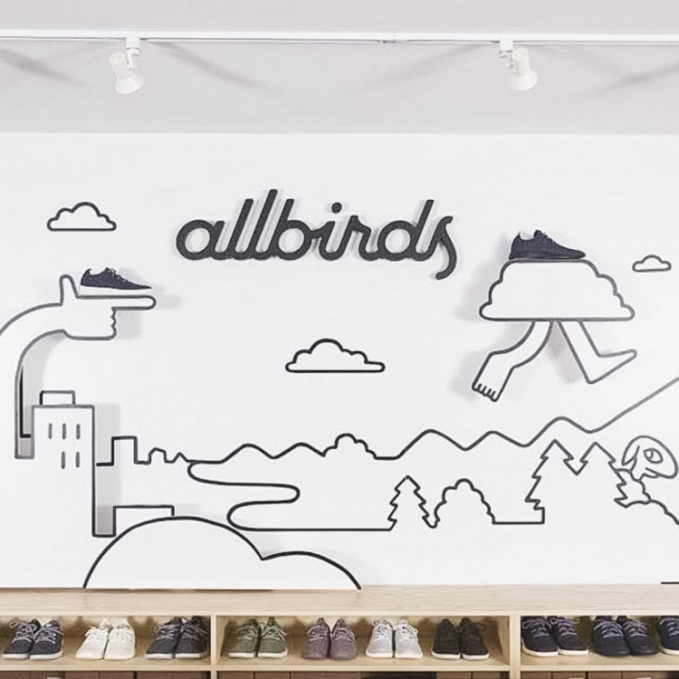 Allbirds interior sign