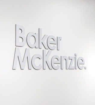 Baker McKenzie Lobby Sign