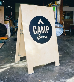 Camp Sierra Event A-Frame Sign
