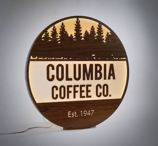 Columbia Church, cafe sign