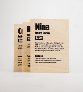 Cotopaxi Product Information Plaques