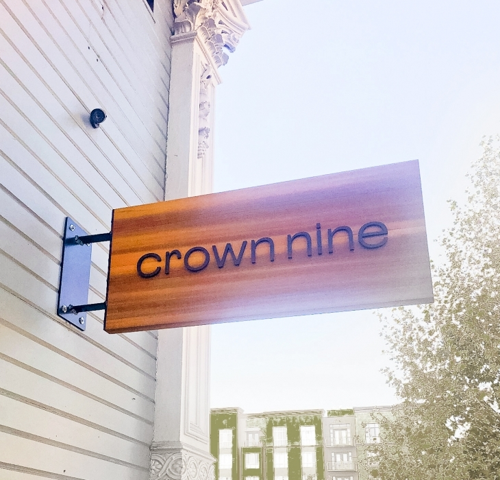 Crown Nine Blade Sign