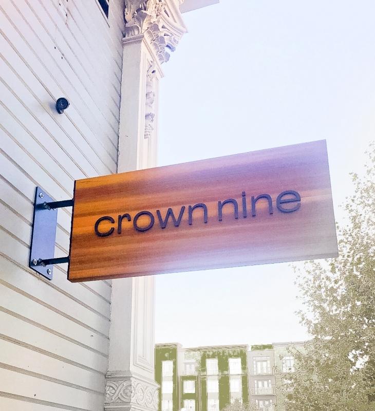 Crown Nine Blade Sign