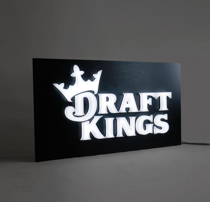 Draft Kings Illuminated Sign