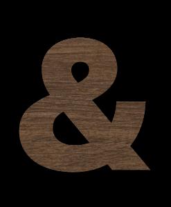 Wood Floating Sign in Chestnut