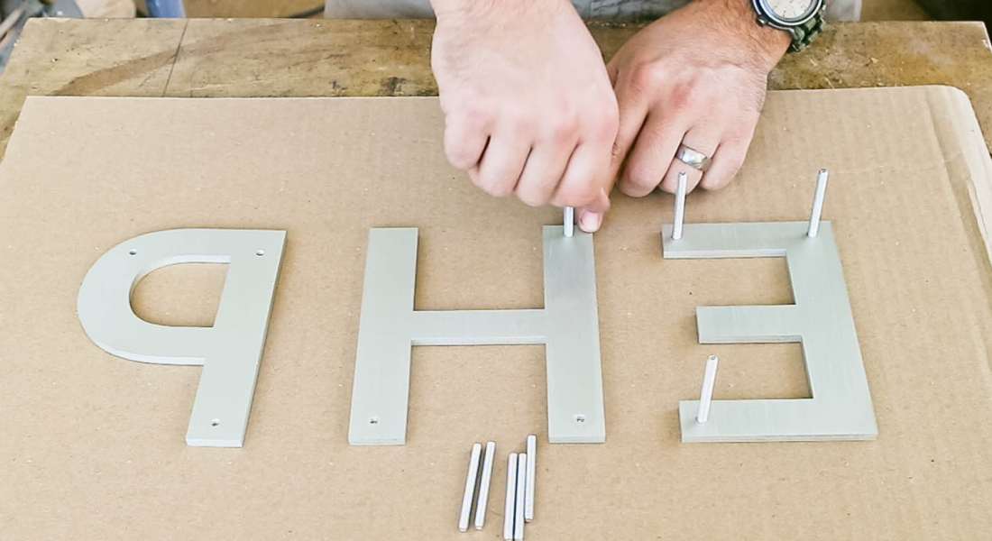 How to Install a Sign with Studs