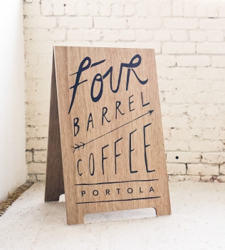 Four Barrel Coffee A-Frame