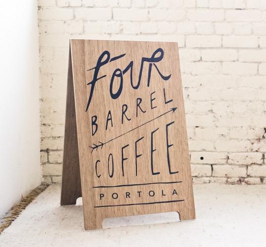 Four Barrel Coffee A-Frame
