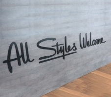 Styles Studios Front Desk Sign