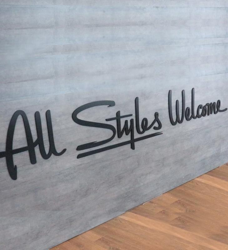 Styles Studios Front Desk Sign