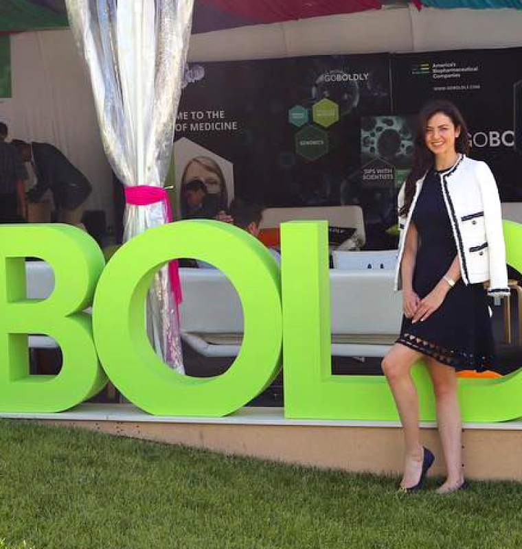 #goboldly large green freestanding event same made from HDU foam