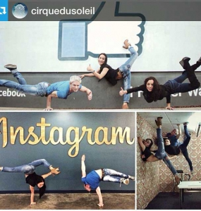 Cirque du Soleil with Instagram sign