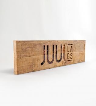 Juul Wood Sign