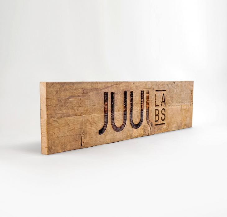Juul Wood Sign