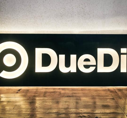 DueDil, Illuminated Sign