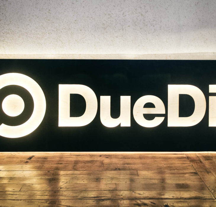 DueDil, Illuminated Sign