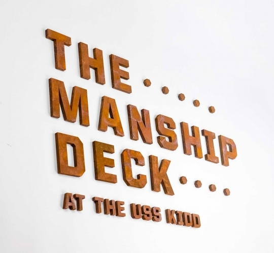 The Manship Deck at the USS Kidd