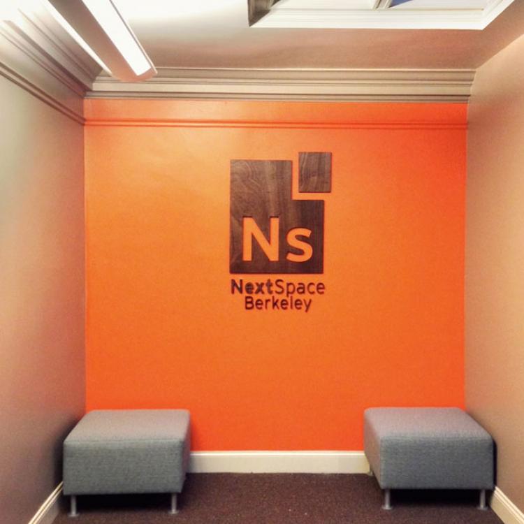 NextSpace Wood Signage
