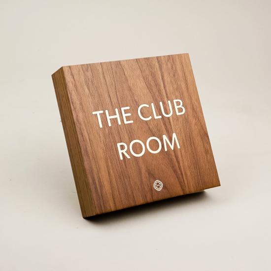 Nexus Club, Walnut Sign
