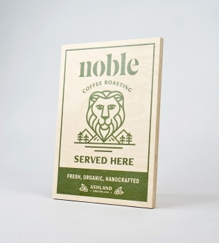 Noble Coffee Roasting Rectangular Retail Sign