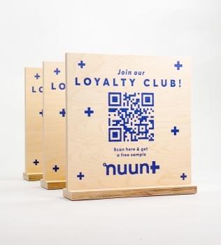 Nuun Tabletop Sign