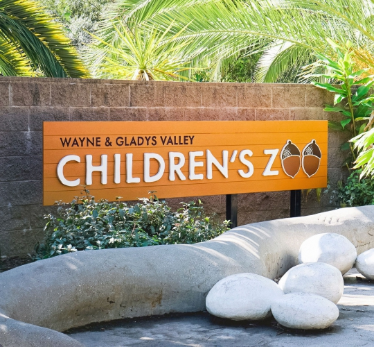 Oakland Zoo – Children's Zoo Sign