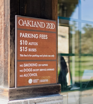 Protected: Oakland Zoo – Parking Sign